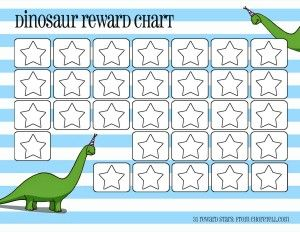 A4 Dinosaur Reward Chart with Stickers