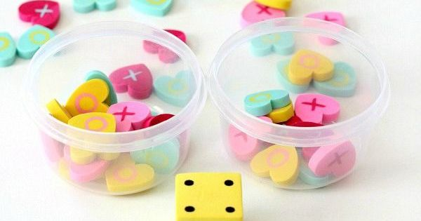 Race to Fill the Cup Counting Game with Mini Erasers   Counting games ...