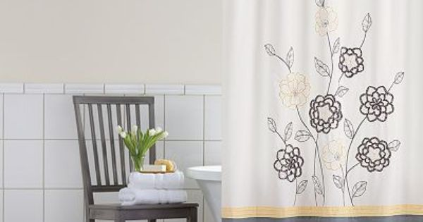 Home Classics Sophia Fabric Shower Curtain With Images Fabric