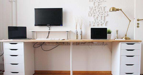 Diy schreibtisch 3 wohnung pinterest diy for Schreibtisch 2 meter