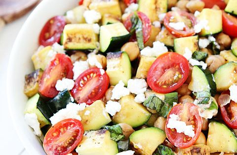 Grilled Zucchini, Chickpea, Tomato, and Goat Cheese Salad ...