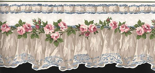Wallpaper Border Lacy Floral Scalloped Floral Wallpaper Border Wallpaper Border Flower Art Images