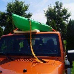How To Strap A Kayak To A Softtop Jeep For Transport Kayak