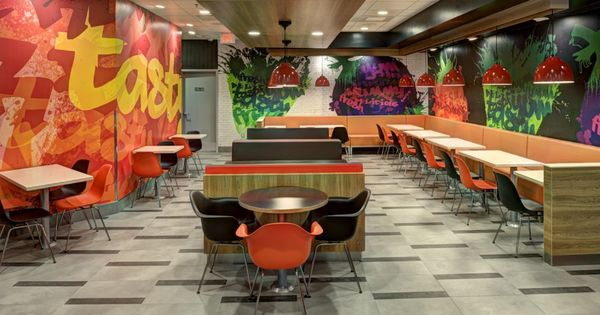 Fast food restaurant decorating ideas wall pinterest for Fast food decoration