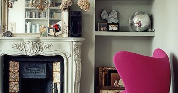 arne jacobsen hot pink egg chair