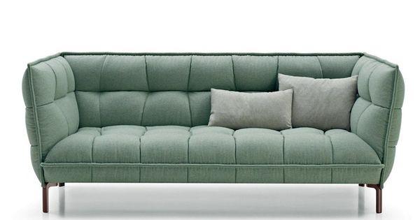 Sof capiton de tecido husk sofa by b sala de estar for Sofa industriedesign
