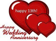 Happy 13 Year Anniversary Happy 13th Wedding Anniversary With