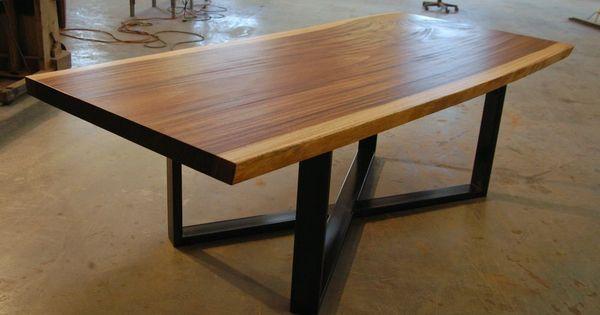 Single Slab Raw Edge Live Edge Monkeypod Dining Table