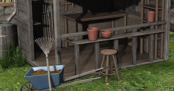 Open Air Potting Shed Something Like This For My