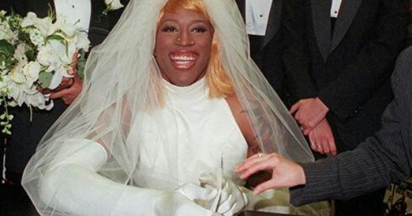 dennis rodman wore a wedding dress in 1996 to promote his bad as i