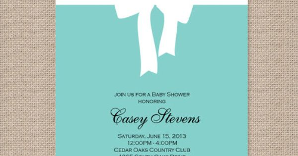 Tiffany Blue Baby Shower Invitations Party Ideas