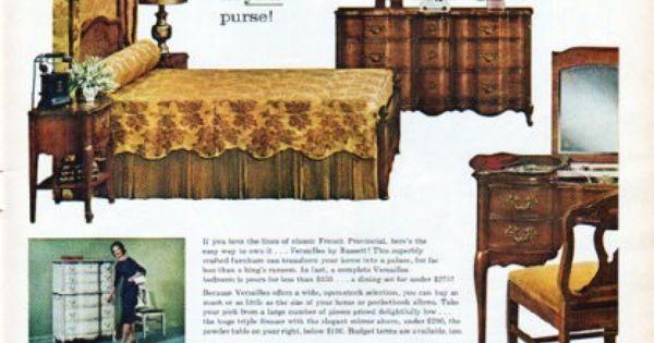 1962 Bassett Furniture Ad Versailles Furniture Vintage Versailles And Decoration