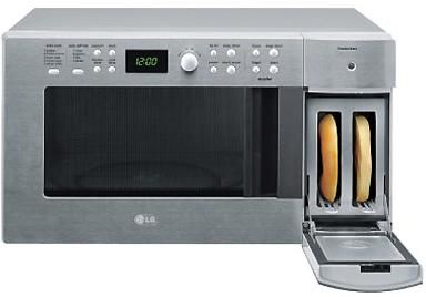 microwave oven and toaster from lg