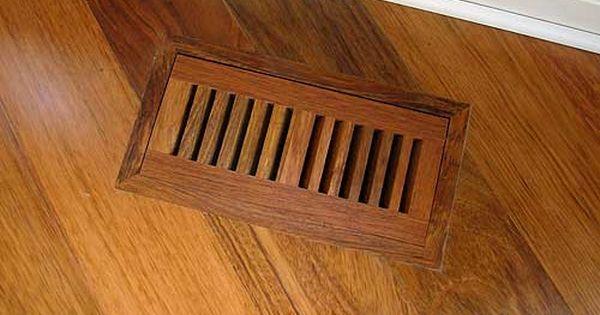 Hardwood Floor Heating Vents Covers Registers Types Wood