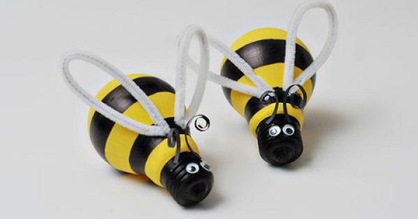 Como hacer abejas con bombillas recicladas bombillas - Bombillas decoradas ...