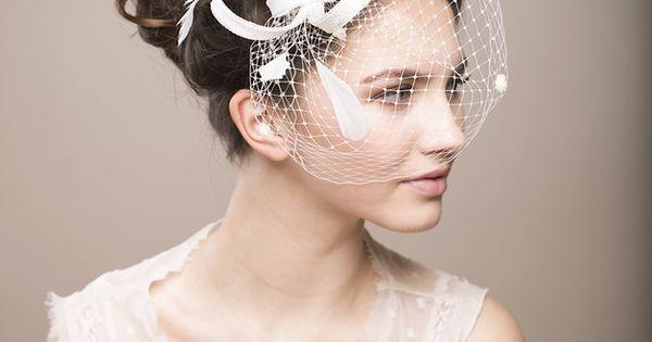 Braut Fascinator mit Federn, Hochzeit Schleier  Produkte und Hochzeit