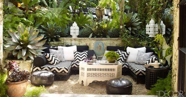 LOVE outdoor space by Martyn Lawrence Bullard via elle decor