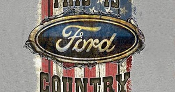 Ford Country American Flag Pictured On The Front Of The 100
