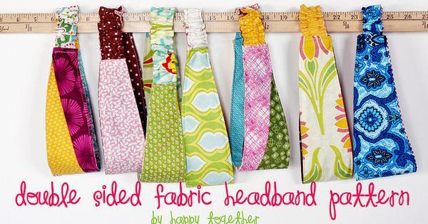 Cute headband pattern make with ties