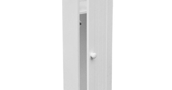 Details About White Wooden Bathroom Toilet Paper Roll Holder Floor Standing Storage Cabinet