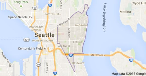 Map Of Central District Seattle Wa