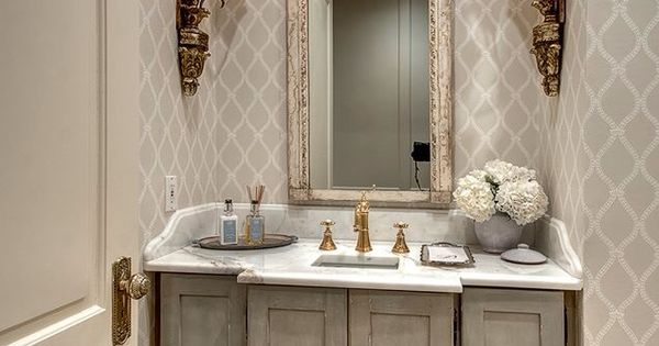Pretty small bath powder room paint finishes by for Best paint finish for bathroom