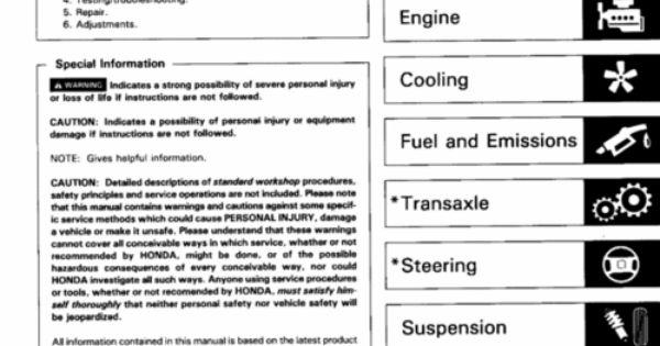 1996 acura integra service manual pdf