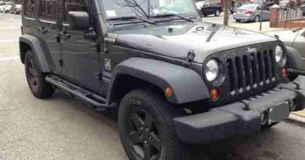 Charcoal Grey Jeep Rubicon Jeep Wrangler Unlimited Sport 4 Door