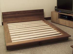 Iroko Platform Bed Bespoke Handmade Bedroom Furniture Brighton