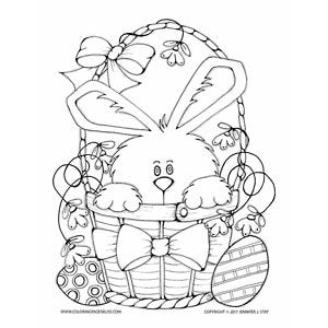 Adult Coloring Pages Easter Coloring Sheets Easter Bunny