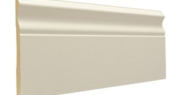 1 2 X 5 1 4 X 8 Ft Colonial Primed Mdf Baseboard Moulding