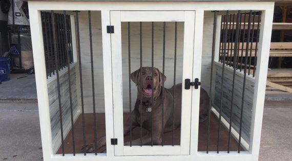 Single Dog Kennel Dog Condo Dog House Dog Box By Artsyreclaimed