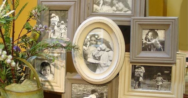 Attach overlapping frames in similar colors and style for the home pinterest shabby chic