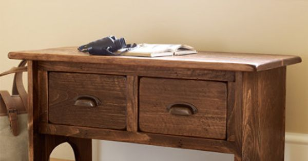 Rustic Wooden Foyer Bench Benches at L L Bean