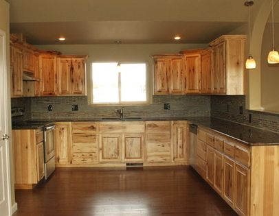 what countertops go with hickory cabinets - Google Search ...