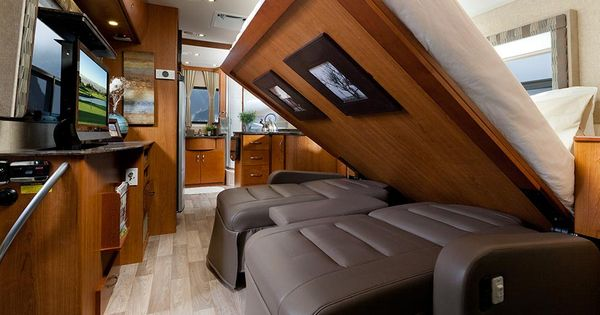 Queen Size Murphy Bed Coming Down In A Class A Rv Rving