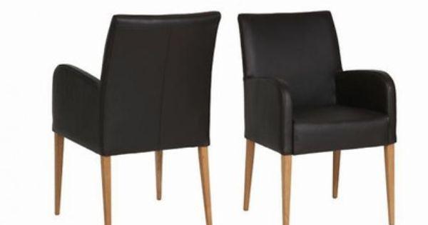 Sch ner design stuhl esszimmer mit armlehnen und bezug in for Design lederstuhl esszimmer