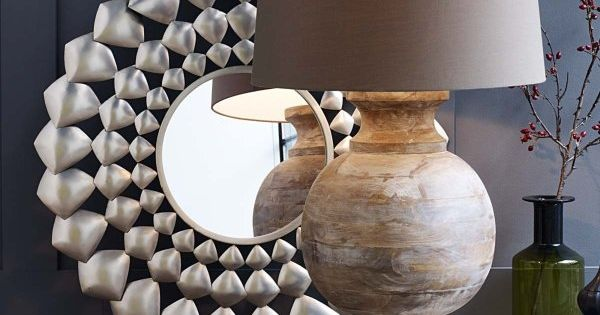 maravilla the art of living l12 xxl leuchte stilvoll mit leicht gekalktem mangoholzfu und. Black Bedroom Furniture Sets. Home Design Ideas