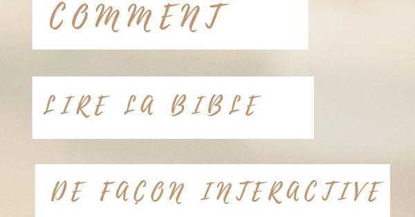 La Bible Peut Paraitre Parfois Intimidante Si On La Considere Dans Son Integralite Au Cours De Cette Annee Je Vais Faire Une Seri La Bible Lire La Bible Bible