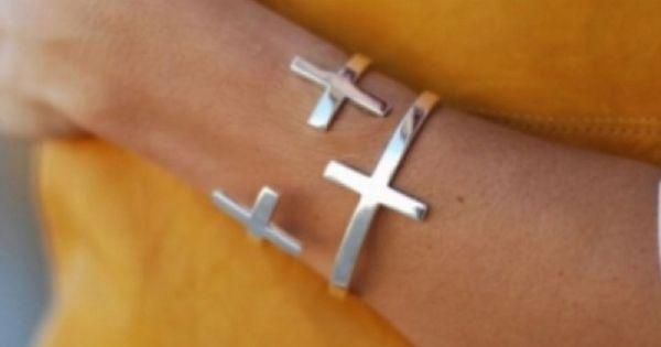 Cross silver bracelet