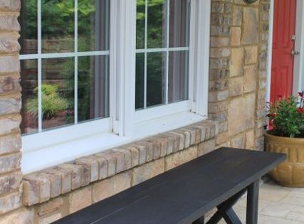 $20 bench DIY instructions step by step- front porch
