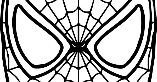 spiderman mask coloring page | coloring pages | Pinterest ...