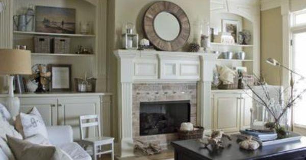 Living room | built ins, fireplace, mantel