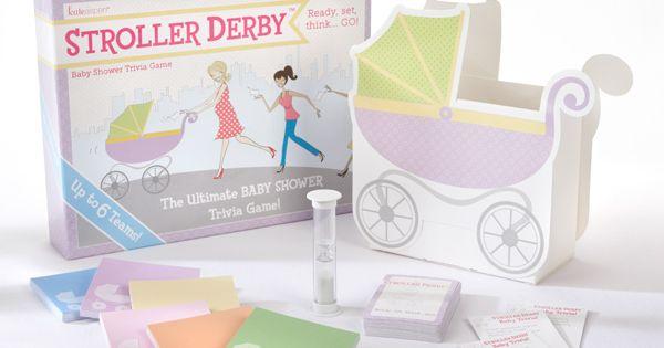 Popular Baby Shower Game! Stroller Derby Baby Shower Trivia Game