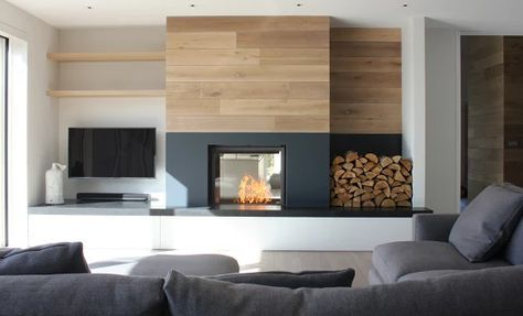 Fireplace Tv Side By Side Though It Would Be Reversed In The
