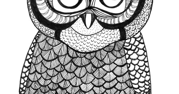 Free Adult Coloring Book Pages Owl