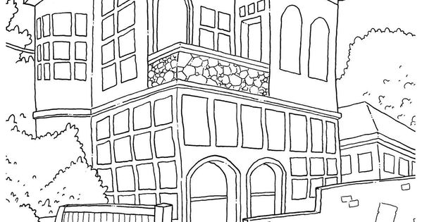 Street Corner Adult Coloring Pages