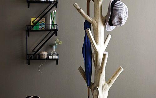 Branch coat rack // wood coat hanger entryway organizer furniture_design product_design