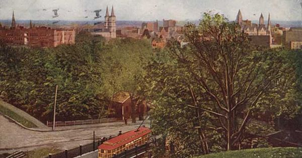 View St Paul Minn From Hill Above Selby Tunnel 1907 Selby Minnesota Tunnel