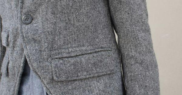 tweed grey blazer: modernized